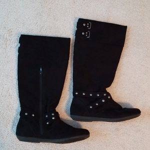 Rampage faux suede black boots